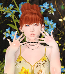 Portrait of Haru for March :) (Haruka Catteneo) Tags: doe {s0ng} michan supernatural ison indigo lacrimedellanima hpmd ionic secondlife sl avatar 3dworld virtual flowers harukacatteneo expressions