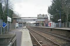 Sherborne Station, 19 Feb 2007 (Ian D Nolan) Tags: railway sherbornestation station epsonperfectionv750scanner 35mm lswr