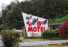 Teddy Bear Motel - Whittier,North Carolina (Rob Sneed) Tags: usa northcarolina whittier abandoned closed americana sign lifeisgood motel roadtrip teddybear teddybearmotel restaurant independent vintage kudzuvine