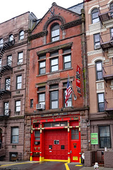FDNY: Orientalism motifs (Can Pac Swire) Tags: usa us unitedstates america american newyork city manhattan upperwestside red fire station hall 74 co company 120 w west 83rd street st building architecture 2018aimg7333 chinese orientalism art motif