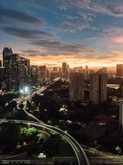 From Semnaggi looking west along Jalan Sudirman, Jakarta ('Barnaby') Tags: scbd cbd semanggi asia longexposure sudirman lookingwest city sunset jakarta indonesia a7riii jalan southjakarta daerahkhususibukotajakarta id