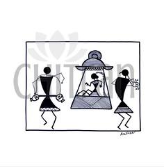 Chitran_033 (chitranbyaashka) Tags: chitranbyaashka zentangle blackandwhite art paintings products design creative artwork pen passion marriage wedding palanquin woman bride custom artist