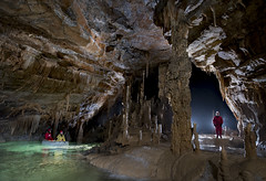 KRIŽNA JAMA (ChunkyCaver) Tags: križna jama caving caver water spelunking