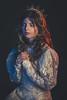 Portrait Estelle (Chloé +++) Tags: portrait girl mua makeup dress gélatines studio blue red colors white bleu rouge blanc noir fond canon eyes hair france