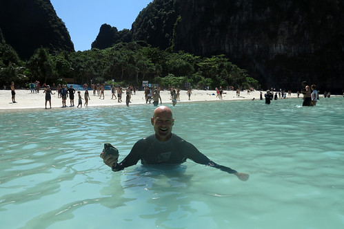 Wading at Maya Bay
