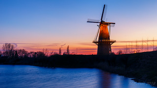 The exposed windmill @ Woudrichem