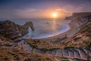 Sunset along the Jurassic Coast