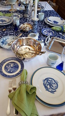 Blue on Blue 6 (Mamluke) Tags: blueonblue blue tabletop table flatware glassware dishes china mix mixed tablelinen linen mamluke home blues mixes mixture crystal patterns pattern patterned napkin fork knife spoon cup plate plates glass bowl