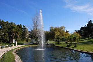 Estanque en el Parque de San Antonio (Aveiro, Portugal, 20-11-2017)
