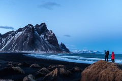 Vesturhorn, Iceland. (Monica@Boston) Tags: sunset winter iceland photographer people beach ocean mountains landscape travel vesturhorniceland