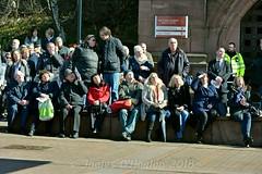 Crowd watch on big screen (James O'Hanlon) Tags: sir ken dodd sirkendodd kendodd funeral cathedral anglican liverpool liverpoolcathedral anglicancathedral stars knotty ash knottyash squire legend comedy
