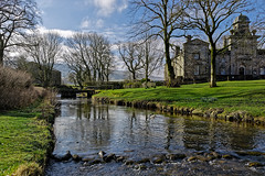 Linton in Wharfedale (scottprice16) Tags: england yorkshire craven wharfedale linton village beck river water stream almshouses sirrichardfountaine fountainehospital vanbrugh architecture spring march 2018 canon canoneos6d 24105mmf4l ducks building grass trees bridge ancient