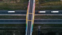 Autostrada A2 (Przemek Turlej) Tags: a2 aerial autstrada dron koło kościelec mavic tęczowywiadukt autostrada geometry landscape aerialphotography polska poland polen highway motorway freeway road flyover