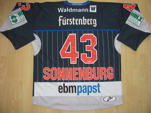 SERC Wild Wings 2017 - 2018 home Game Worn Jersey ·  43 Kyle SONNENBURG Game  Worn Jersey 4d7fe60da