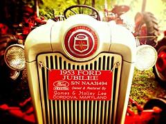 "Ford ""Jubilee"" 1953 red Tractor (delmarvausa) Tags: tractor red vintage oldtractor tractorshow antique thecolorred redtractor tractors antiquetractorshow vintagetractor farming farmequipment maryland delmarva delmarvapeninsula easternshore steamshow easternshorethreshermensassociation threshermensshow oldtractors thingsthatarered ford jubilee oldford fordjubilee 1950s 1953 oldfordtractor"