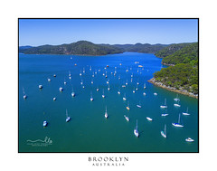 Luxury yachts moored at Brooklyn Australia (sugarbellaleah) Tags: yachts luxury boat motorboat water lifestyle leisure recreation summer brooklynnsw australia mountains hawkesburyriver outdoors aerial landscape seascape views drone brooklyn newsouthwales au