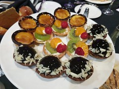 April 17: Dessert Tray (earthdog) Tags: 2018 food edible dessert treat tart fruit chocolate cremebrulee work allhands googlepixel pixel androidapp moblog cameraphone project365 3652018