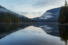 loon lake. (kvdl) Tags: malcolmknappresearchforest loonlake mapleridge britishcolumbia dawn lake morning reflection canonef35mmf14lusm april forest