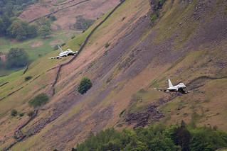 Pair of 41 Sqn RAF Typhoons, LFA17