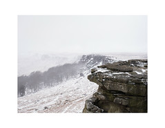 Stanage Snow (danjh75) Tags: stanage edge peak district ngc telephoto white winter gales rocks hiking nikon handheld national park trees moors ice bleak