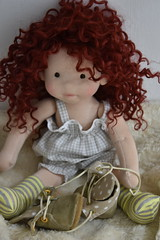 "Madison 15"" natural fiber doll (Dearlittledoll) Tags: waldorf waldorfdoll sewing steiner steinerdoll slowdollmaking smalldoll doll"