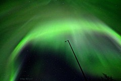Corona (Katy on the Tundra) Tags: northernlights auroraborealis corona weatherstation