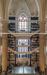 Bookshop in a Church 1 (genf) Tags: bookshop boekhandel church kerk pillars pilaren gebrandschilderd glas stained glass zwolle overijssel nederland netherlands waanders de broeren indoor binnen sony a99ii