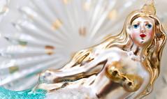little mermaid (pollyjaney) Tags: onceuponatime macromonday littlemermaid ornament macro mermaid glassbauble decoration glass shine metallic