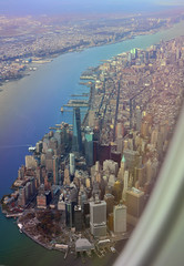 View from the Southern tip of Manhattan (pgmark1) Tags: newyork view flying