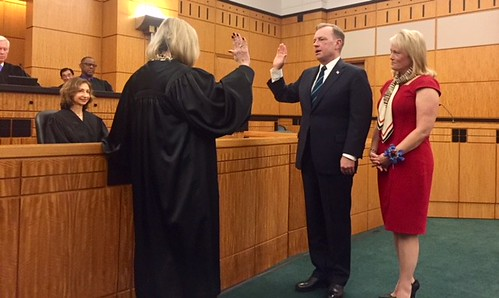 Greg Scott being sworn in as U.S. attorney for the Eastern District of California