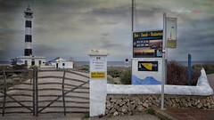 (145/18) Faro del Cabo de Artrutx (Pablo Arias) Tags: pabloarias photoshop photomatix capturenxd españa cielo nubes arquitectura faro cancela puerta rótulos cabo artutx menorca calaenbosch