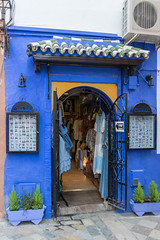 cadre bleu (Rudy Pilarski) Tags: nikon tamron d7100 18270 color couleur colour city ciudad séville rue entrée blue bleu porte espagne espagña azul architecture architectura entrada voyage travel europa