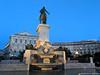 Dusk in Plaza de Oriente (David J. Greer) Tags: madrid spain dusk plaza oriente statue curves water evening