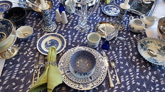 Blue on Blue 2 (Mamluke) Tags: blueonblue blue tabletop table flatware glassware dishes china mix mixed tablelinen linen mamluke home blues mixes mixture crystal patterns pattern patterned napkin fork knife spoon cup plate plates glass bowl