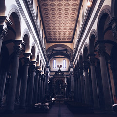 Santo Spirito (Olly Denton) Tags: church cathedral religion religiousbuildings vanishingpoints perspective arches circles roof views architecture architectureporn architecturelovers architecturephotography architecturalphotography iphone iphone6 6 vsco vscocam vscoflorence vscofirenze vscoitaly vscoitalia ios apple mac shotoniphone santospirito florence firenze italy italia