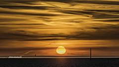 Whiteford Lighthouse sunset (stevenbailey7) Tags: lighthouse sunsets light beach seaside new sun clouds skyline scenery landscape seascape nikon dusk orange nature weather equinox spring horizon