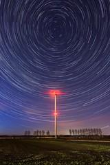 Spinning the world (Sander Grefte) Tags: stars startrail night nightphotography windmill windmolen sterren sterrenspoor landscape landschap lathum rheden netherlands tokina1228mm nikon gelderland