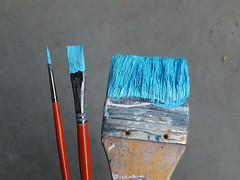 (Shannon Ocean) Tags: blue turquoise paint brushes painting