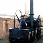 Dampflokomotive Pen-Y-Darren zu Besuch im Eisenbahnmuseum Bochum-Dahlhausen am 19. April 1997 (scan) thumbnail