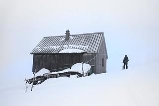 Cabin in the fog