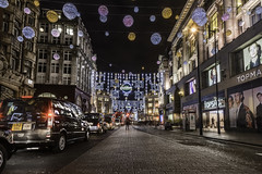 Christmas in London (Alec_Hickman) Tags: london christmas winter road street cars vehicles night decorations people shops stores lights colours landscape city urban