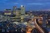 The Wharf (JH Images.co.uk) Tags: london skyline cityscape cityoflondon canarywharf towerbridge bridge shard londoneye gherkin city hdr dri clue hour twilight skyscrapers light trails