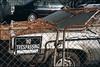 Neglect (ADMurr) Tags: la echo park hilltop parking trespassing leaves debris leica m6 kodak 200 50mm summicron ccc734edit