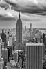 The Empire State Building (mickdep59) Tags: usa empirestatebuilding 2017usa manhattan topoftherock newyorkcity rockfellerbuilding newyork batiments oneworldtradecenter noiretblanc building architectureetbatiments tor bw blackandwhite étatsunis us