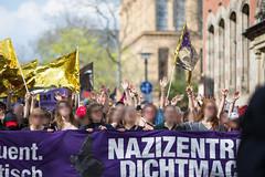 ktond9 (Felix Dressler) Tags: kickthemout nazizentrendichtmachen identitärebewegung halle demonstration antifa feminismus konsequent feministisch antifaschistisch ib