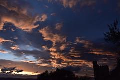 DSC_1503 (griecocathy) Tags: tours arbre ombre montagne coucher soleil ciel nuage couleur ocre crépuscule bleutée