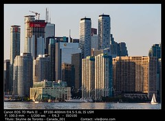 Toronto skyline in the dusk hour, Ontario, Canada (__Viledevil__) Tags: canada ontario architecture building business canadian city cityscape district downtown harbor high lake landmark landscape metropolis modern reflection sky skyline skyscraper stadium toronto tower urban view water waterfront canadá ca