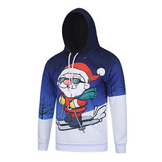 Men′s Christmas Themed Santa Skiing Pattern Hooded Sweater Polyester Crease Resistant Pullovers (1103917) #Banggood (SuperDeals.BG) Tags: superdeals banggood clothing apparel men′s christmas themed santa skiing pattern hooded sweater polyester crease resistant pullovers 1103917