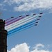 Red Arrows over Nelson Monument