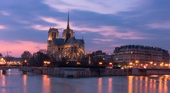 Notre Dame de Paris - Blue Hour (valecomte20) Tags: notre dame de paris blue hour seine bridge town nikon d5500 longueexposition